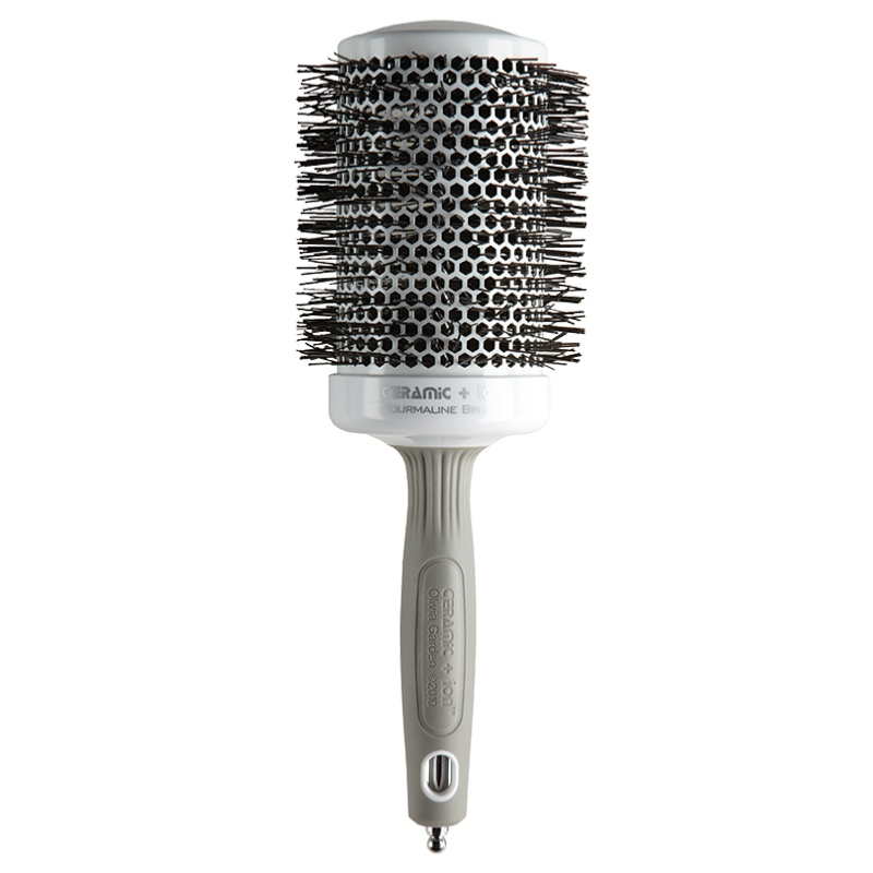 Ion Brosse Thermale Ronde Diam/ètre 20mm Tourmaline-Ion et Poils en Nylon Olivia Garden Ceramic Antistatique