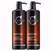 Brunette Fashionista Conditioner + Shampoing Tigi Catwalk 750 ML