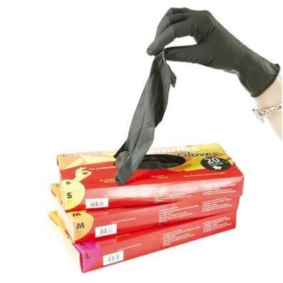 gants latex noir r utilisables bo te de 20 pas cher. Black Bedroom Furniture Sets. Home Design Ideas